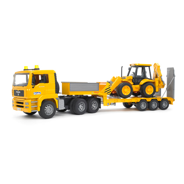 Camion de transport Man + Tractopelle JCB 4CX Bruder : King Jouet ...