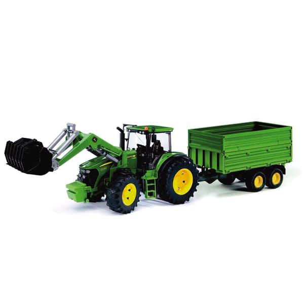 Tracteur john deere 7930 avec fourche et remorque bruder king jouet v hicules de chantier et - Tracteur avec fourche ...