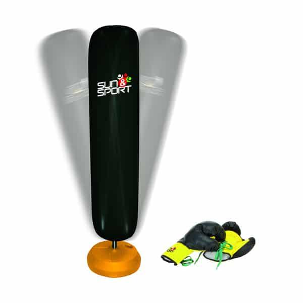 sac de frappe gonflable sur pieds avec gants sun sport king jouet jeux d 39 adresse et. Black Bedroom Furniture Sets. Home Design Ideas