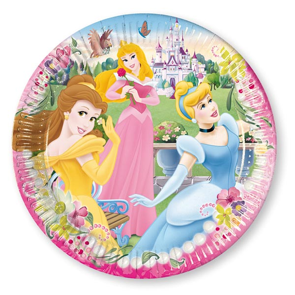 8 assiettes disney princesses pour 4€