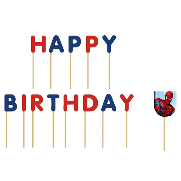 Bougies anniversaire spiderman pour 6€