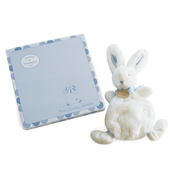 Lapin Bonbon Doudou Bleu 26 cm