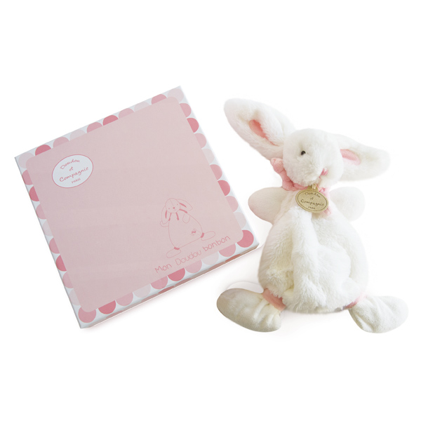 Lapin Bonbon Doudou Rose 26 cm