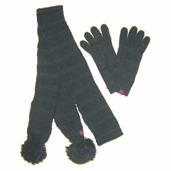 Ensemble gants et echarpe noir rip-curl pour 20€