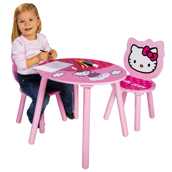 Table Et 2 Chaises Hello Kitty Smoby King Jouet