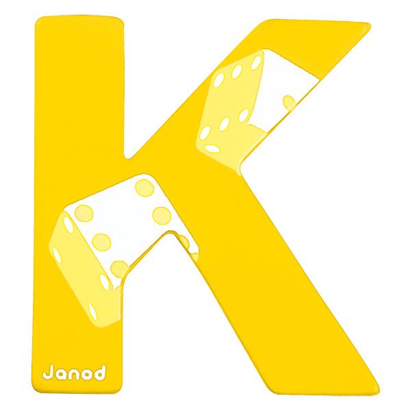 Lettre décorative en bois -K Janod : King Jouet, Décoration de la on