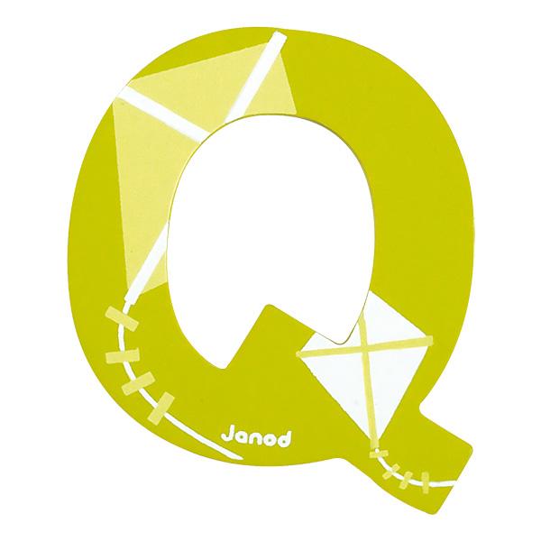 Lettre décorative en bois Q Janod  King Jouet