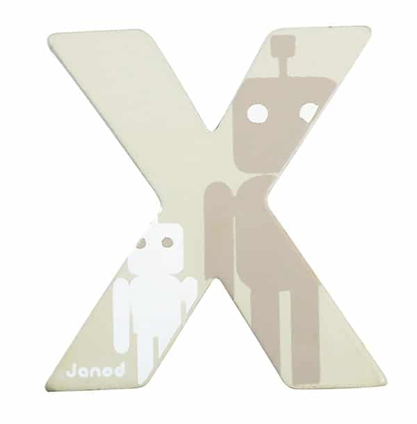 Lettre décorative en bois -X