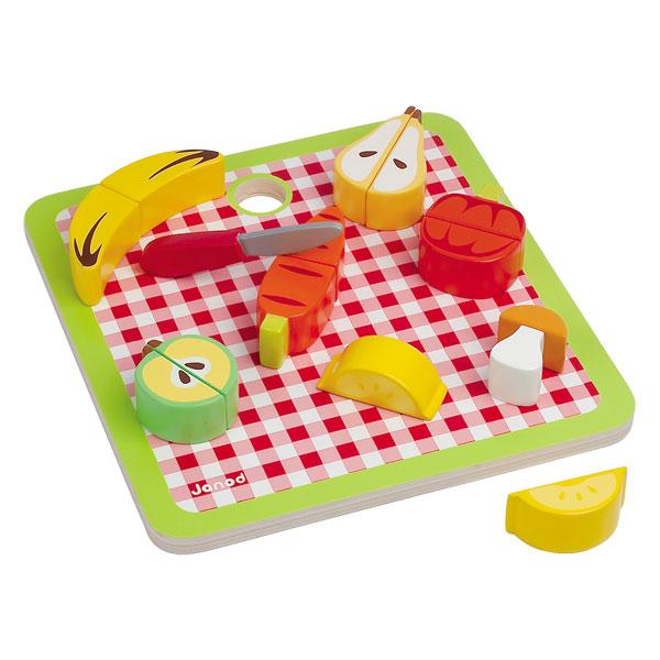 Plateau de fruits en bois janod king jouet cuisine et for Cuisine en bois janod