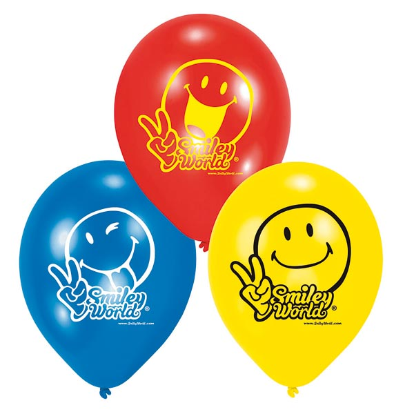 Ballons smiley comic pour 3€