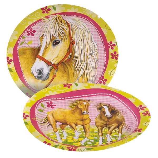 8assiettes chevaux pour 3€