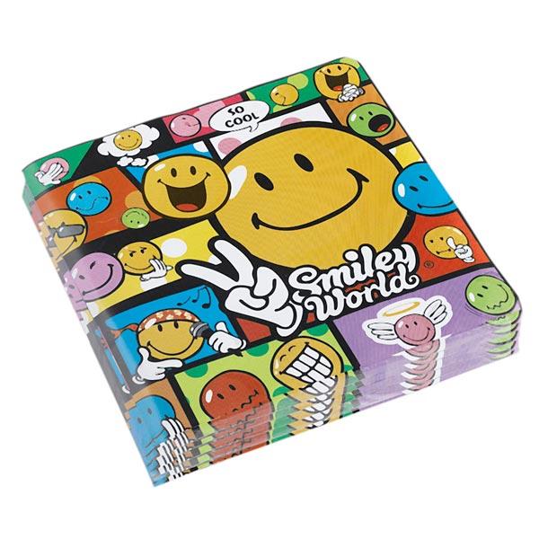 20 serviettes smiley comic pour 4€