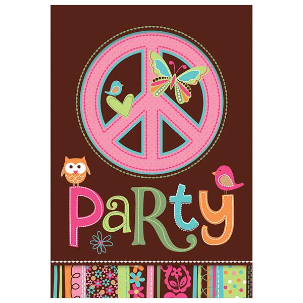 Invitations hippie pour 4€