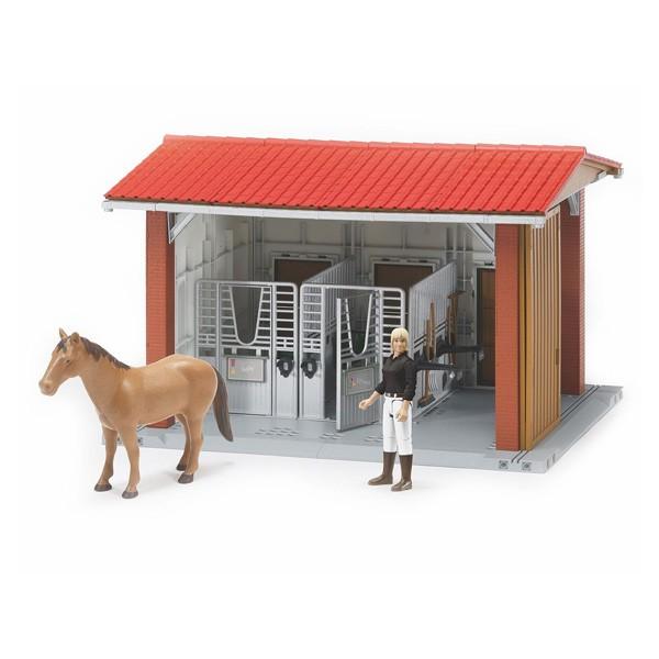 Tenez votre propre écurie et gardez vos chevaux en bonne santé. Pour tous les enfants , passionnés ou non d´ équitation ; ce jouet permet de se sentir comme un vrai chef de domaine équestre . L´ écurie est modulable et on peut étendre l´espace en fonction