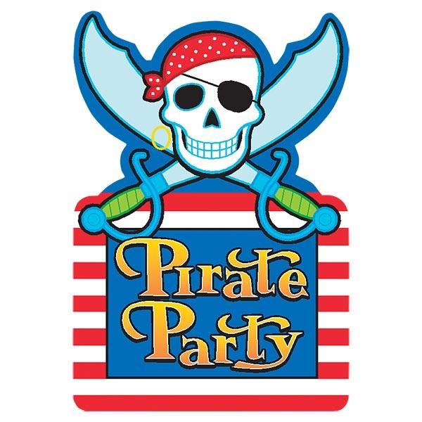 Invitations pirates party pour 4€