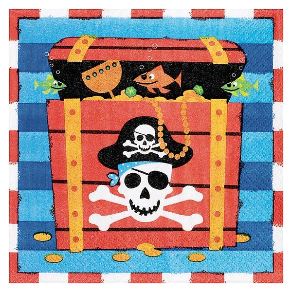Serviettes trésor pirates pour 3€