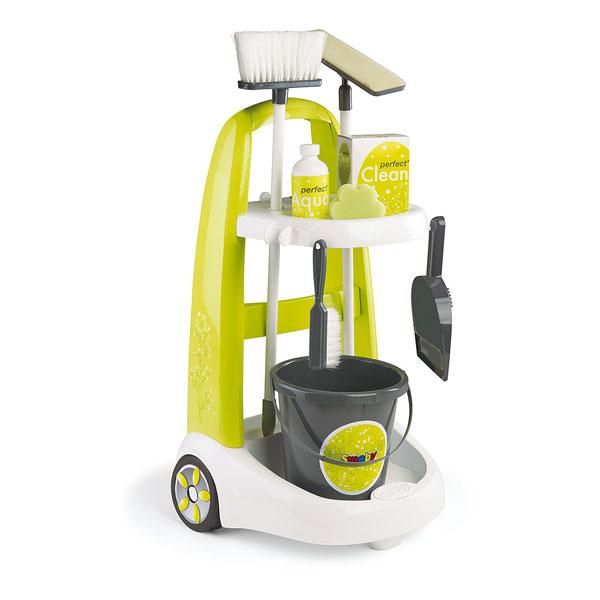 Clean Service Chariot De Ménage Smoby : King Jouet, Faire Comme