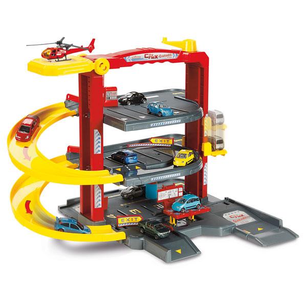 Garage city flex majorette king jouet garages et circuits majorette v hicules circuits et - Grand garage voiture jouet ...
