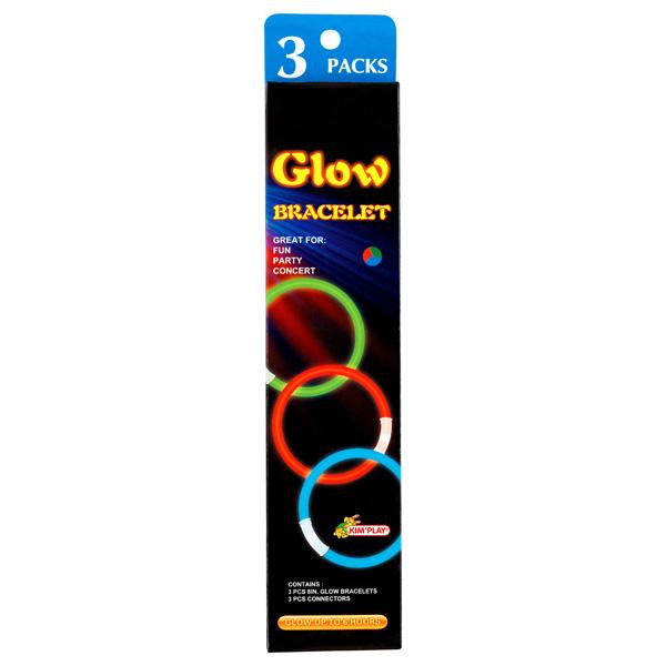 3 bracelets phosphorescents pour 2€