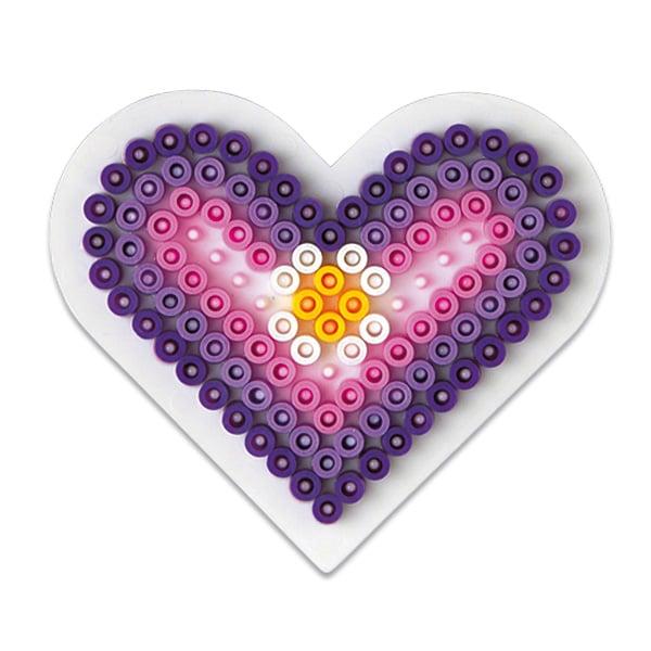plaque pour perles repasser petit coeur hama king jouet perles hama jeux cr atifs. Black Bedroom Furniture Sets. Home Design Ideas