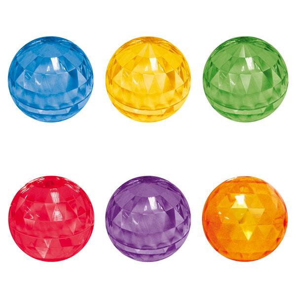 Balle rebondissante couleur, style diamant pour 6€
