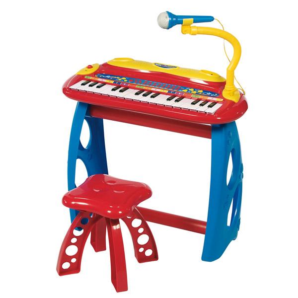 orgue sur pied tabouret music star king jouet jouets. Black Bedroom Furniture Sets. Home Design Ideas