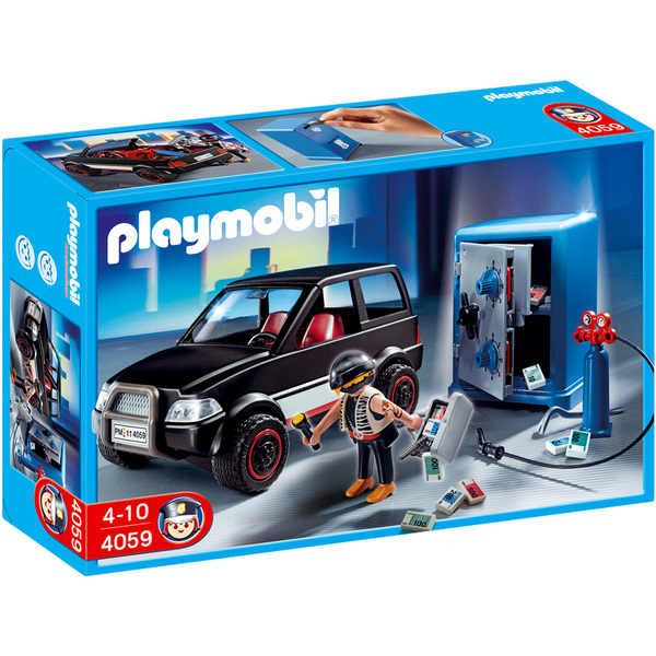 playmobil les policiers voiture et moto de police comissariat voleurs jouets playmobil. Black Bedroom Furniture Sets. Home Design Ideas