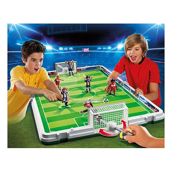 jeu jouet Jeux imitation mondes imaginaires playmobil ref  terrain de football et joueurs