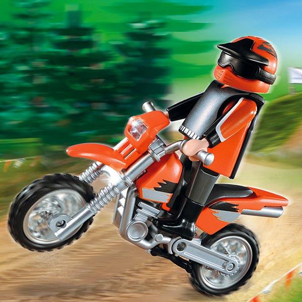 5115 motocross de playmobil - Moto cross playmobil ...