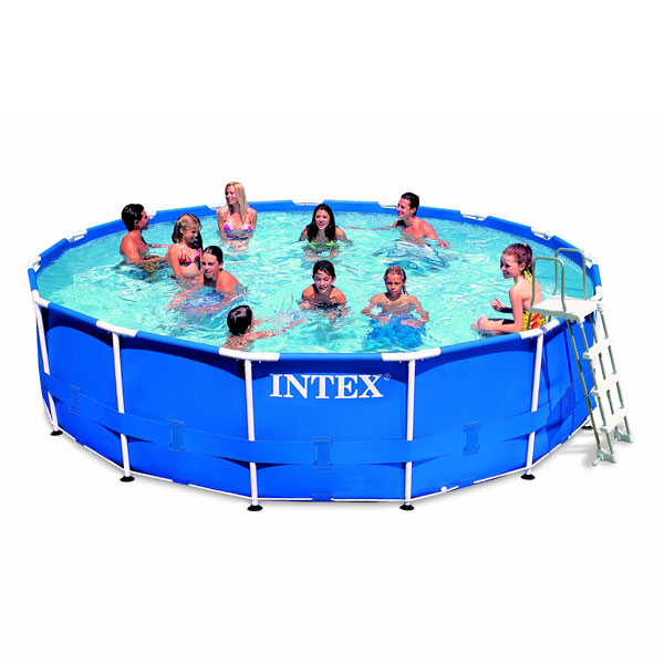Piscine tubulaire intex 4 27 x 1 07 m intex king jouet for Piscine intex tubulaire