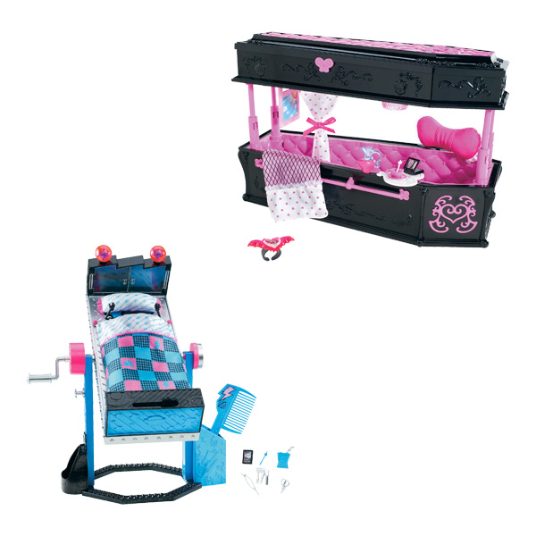 coffret accessoires de chambre monster high mattel king jouet accessoires de poup es mattel. Black Bedroom Furniture Sets. Home Design Ideas