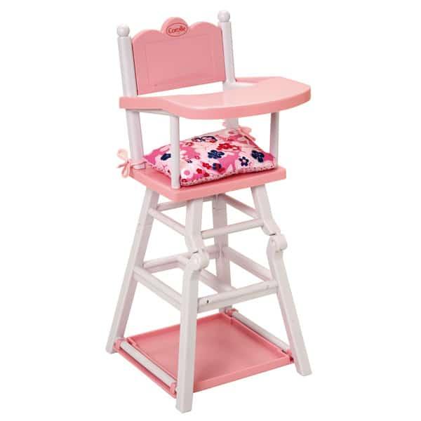 chaise haute pour poupon corolle corolle : king jouet, accessoires
