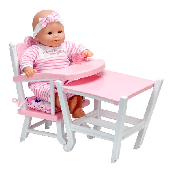 chaise haute pour poupon corolle corolle king jouet accessoires de poup es corolle poup es. Black Bedroom Furniture Sets. Home Design Ideas