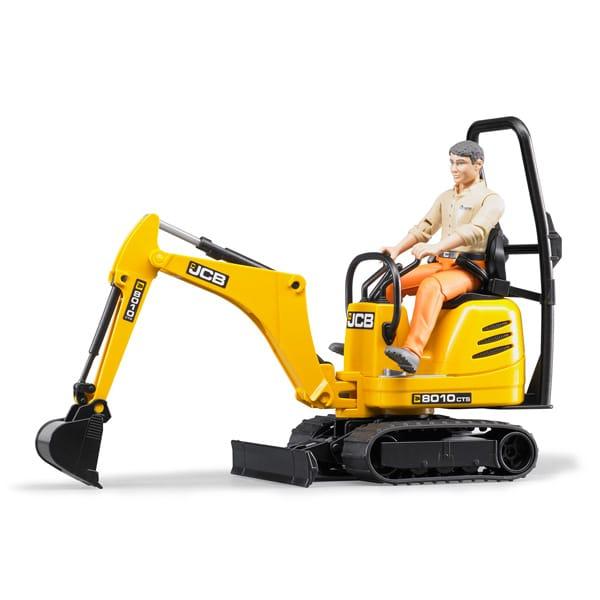 mini pelle jcb et personnage bruder king jouet v hicules de chantier et tracteurs bruder. Black Bedroom Furniture Sets. Home Design Ideas