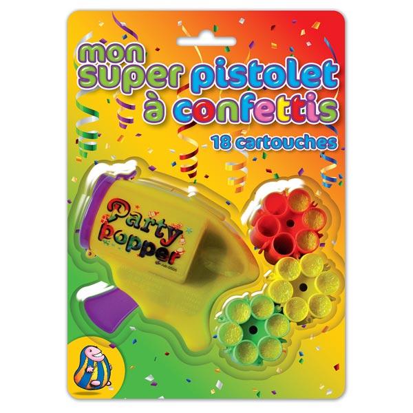 Pistolet à confettis party popper pour 5€