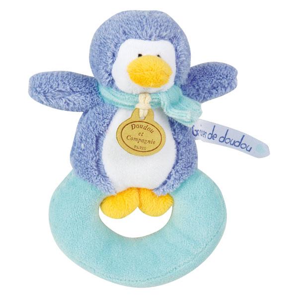 Hochet pingouin bleu turquoise pour 13€