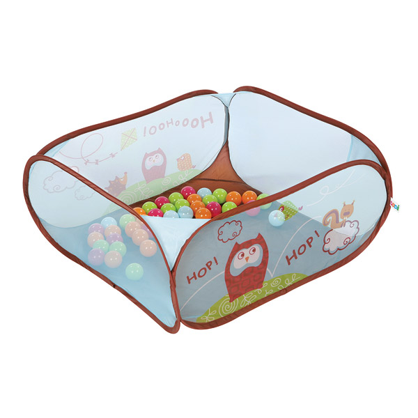 Aire de jeux balles pop up chouette ludi king jouet for Piscine a balles bebe