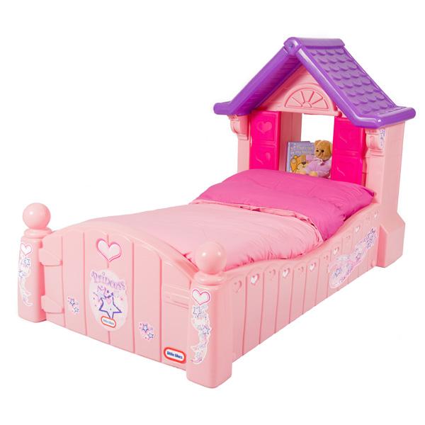 Lit cottage princesse rose avec matelas