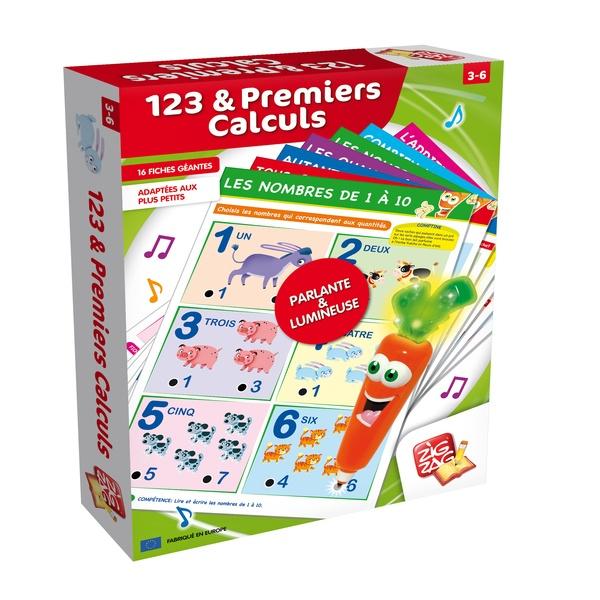 maxi fiches 123 premiers calculs zig zag educatif king