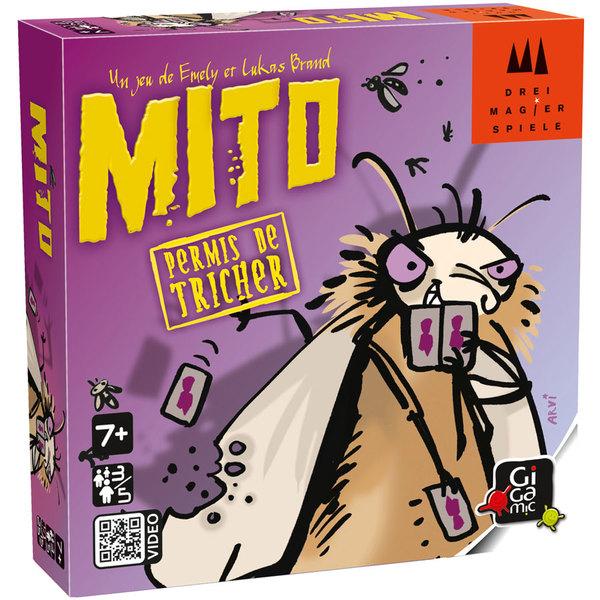 Mito est un jeu d´ambiance avec des règles simples. Pour se débarrasser au plus vite de ses cartes, tous les moyens sont bons, même la triche. Chacun son tour prenez le rôle de la Gardienne Punaise qui veille au grain en surveillant les autres. Serez-vous