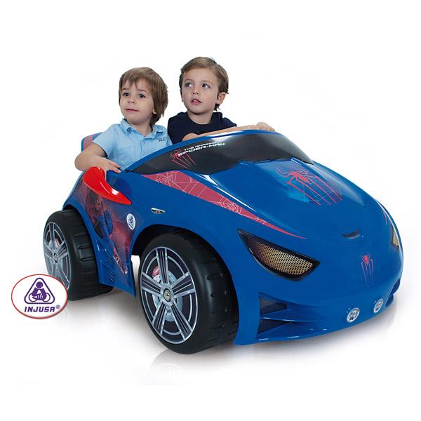 voiture evo spiderman 12 volts injusa king jouet. Black Bedroom Furniture Sets. Home Design Ideas