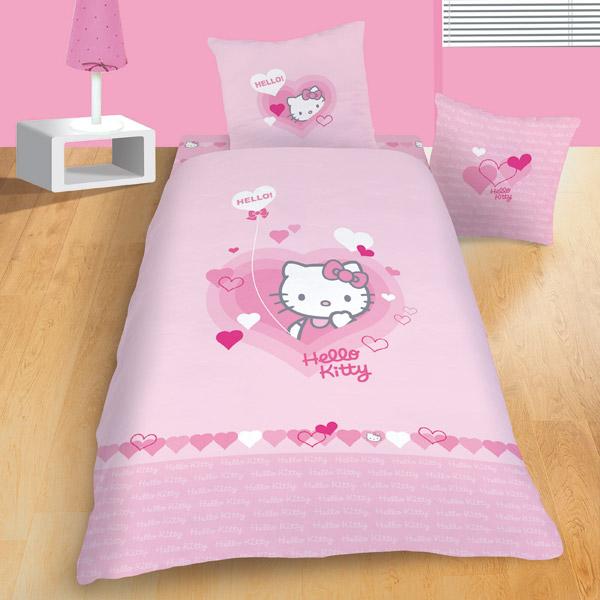 parure de lit hello kitty lucie king jouet d coration de la chambre f tes d co mode. Black Bedroom Furniture Sets. Home Design Ideas