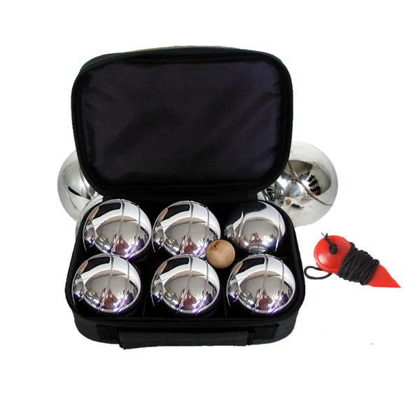 Set de 6 boules de pétanque avec sacoche de rangement