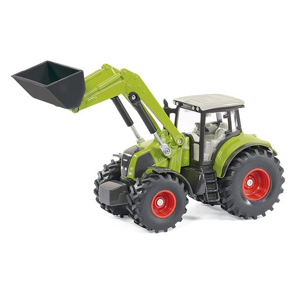 Tracteur avec chargeur frontal et benne