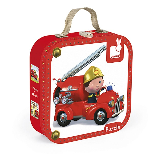 Puzzle camion de l on volutif janod king jouet puzzle for Jouet exterieur 3 ans