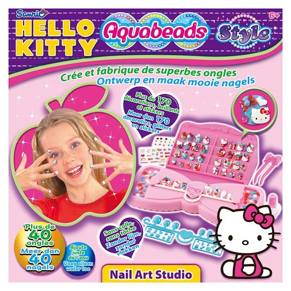aquabeads hello kitty nail art aquabeads king jouet coiffure maquillage aquabeads f tes. Black Bedroom Furniture Sets. Home Design Ideas