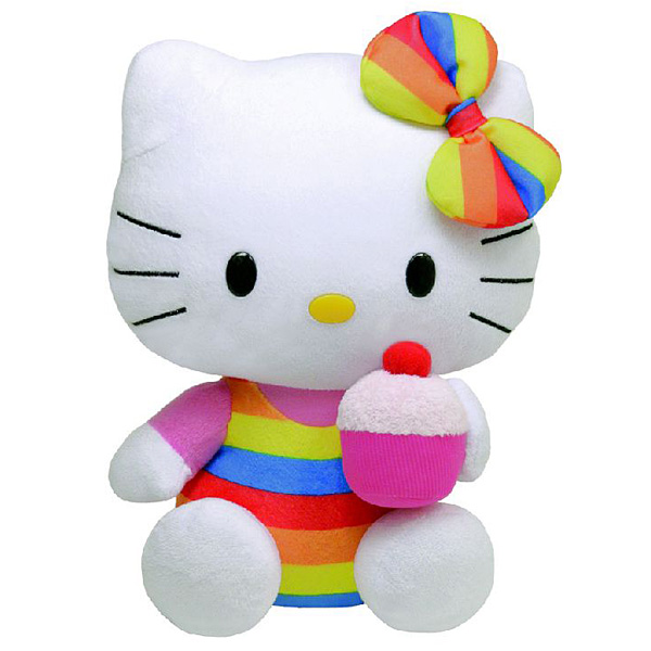 peluche ty hello kitty cupcake 33 cm ty king jouet peluches ty poup es peluches. Black Bedroom Furniture Sets. Home Design Ideas