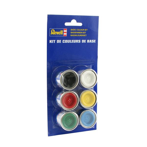 Peinture maquette couleurs de base 6 pots