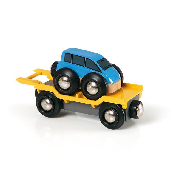 Brio-Wagon transport de voiture avec rampe