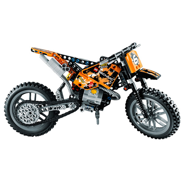 42007 la moto cross lego king jouet lego planchettes autres lego jeux de construction. Black Bedroom Furniture Sets. Home Design Ideas